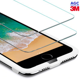 Dr. Vaku ® Apple iPhone 7 / 8 ASAHI Glass & 3M Glue 2.5D Ultra-Strong Ultra-Clear Tempered Glass with Applicator