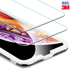 Dr. Vaku ® Apple iPhone X / XS ASAHI Glass & 3M Glue 2.5D Ultra-Strong Ultra-Clear Tempered Glass with Applicator