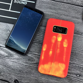 Vaku ® Samsung Galaxy S8 Plus Lexza Volcano Fire Series Hot-Color Changing Infinite Thermal Sensing Technology Back Cover
