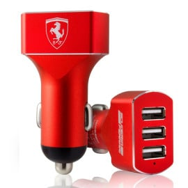 Ferrari ® 5V / 7.2 A 3 USB Output car charger