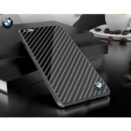 BMW ® Apple iPhone 6 / 6S Glossy Tempered Carbon Fibre Back cover