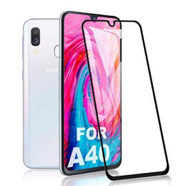 Dr. Vaku ® Samsung Galaxy A40 5D Curved Edge Ultra-Strong Ultra-Clear Full Screen Tempered Glass-Black
