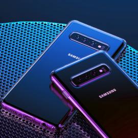 USAMS ® Samsung Galaxy S10 Transparent Creative Series Anti-Drop 4-Corner 360° Protection Back Cover