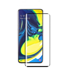 Dr. Vaku ® Samsung Galaxy A90 5D Curved Edge Ultra-Strong Ultra-Clear Full Screen Tempered Glass-Black