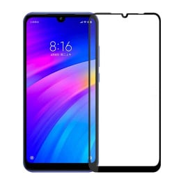 Dr. Vaku ® Xiaomi Redmi 7 5D Curved Edge Ultra-Strong Ultra-Clear Full Screen Tempered Glass-Black
