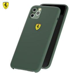 Ferrari ® Apple iPhone 11 Pro Max Liquid Silicon Velvet-Touch Silk Finish Shock-Proof Back Cover