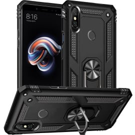 Vaku ® Xiaomi Redmi Note 5 Pro Armor Ring Shock Proof Cover with Inbuilt Kickstand
