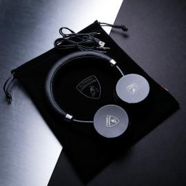 Lamborghini ® Official Huracan Series Premium Bluetooth Wireless 110dB High Fidelity On-Ear Headphones + Mic + Remote Earphone Black