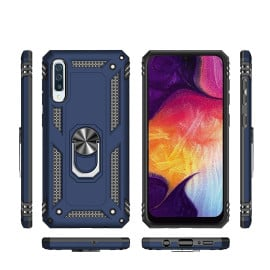 Vaku ® Samsung Galaxy A50 Armor Ring Shock Proof Cover with Inbuilt Kickstand