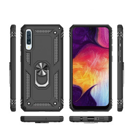 Vaku ® Samsung Galaxy A70 Armor Ring Shock Proof Cover with Inbuilt Kickstand