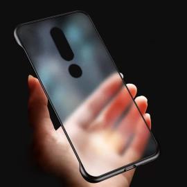 VAKU ® Nokia 6.1 Plus Frameless Semi Transparent Cover (Ring not Included)
