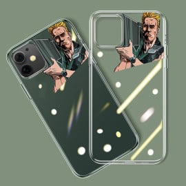Vaku ® For Apple iPhone 11 Terminator Rocket Launcher Designer Print Transparent Back Cover
