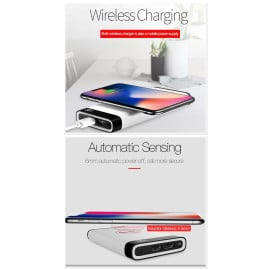 TOTU ® Wire-less Charging PowerBank ABS Body With Digital Display High Power 8,000 mAh Dual-USB Output Power Bank