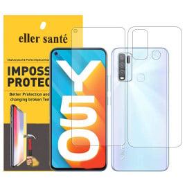 Eller Sante ® Vivo Y50 Impossible Hammer Flexible Film Screen Protector (Front+Back)