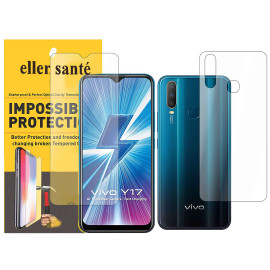 Eller Sante ® Vivo Y17 Impossible Hammer Flexible Film Screen Protector (Front+Back)