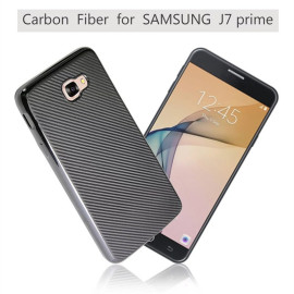 VAKU ® Samsung Galaxy J7 Prime Synthetic Carbon Fiber with PU Back Shell Back Cover
