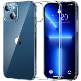 Vaku ® For Apple iPhone 13 Glassy Series Non-Yellowing TPU Shockproof Scratch Resistant Slim Thin Protective Cover [ Only Back Cover ]
