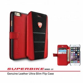 Ducati ® Apple iPhone 6 / 6S Official Superbike Series Genuine Leather Flip Cover