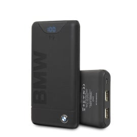 BMW ® Official Racing Dual USB 10000 mAh Wireless Charging Power Bank with LED Indicator and USB Cable