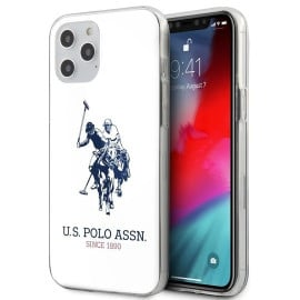 US Polo Assn  ®  Apple iPhone 12 / 12 Pro / 12 Pro Max Ivory White Hard TPU Back Cover