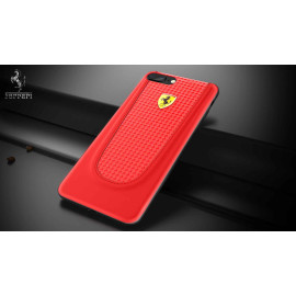 Ferrari ® Apple iPhone 7 Official California T Series Double Stitched Dual-Material PU Leather Back Cover