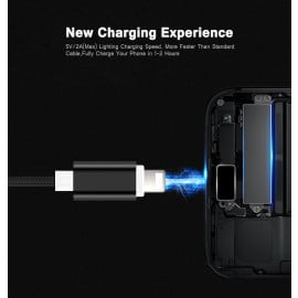 Vaku ® Apple Lightning Nylon Braided USB Data-Charging Cable