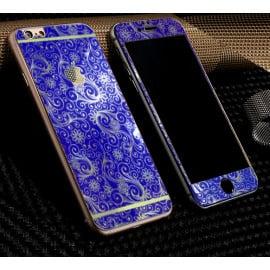 Dr. Vaku ® Apple iPhone 6 / 6S Golden Embossed Floral Design Metallic Finish Tempered Glass (FRONT +BACK)