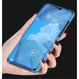 Vaku ® Samsung Galaxy A40 Mate Smart Awakening Mirror Folio Metal Electroplated PC Flip Cover
