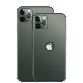 Vaku ® For Apple iPhone 11 Pro Max 1:1 Matte Apple Logo Cut Chrome Line Back Cover