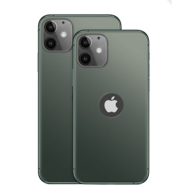 Vaku ® Apple iPhone 11 1:1 Matte Apple Logo Cut Chrome Line Back Cover