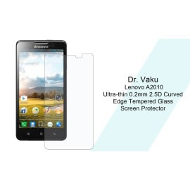 Dr. Vaku ® Lenovo A2010 Ultra-thin 0.2mm 2.5D Curved Edge Tempered Glass Screen Protector Transparent