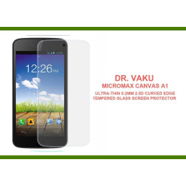 Dr. Vaku ® Micromax Canvas A1 Ultra-thin 0.2mm 2.5D Curved Edge Tempered Glass Screen Protector Transparent