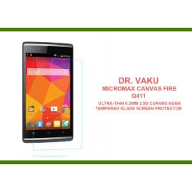Dr. Vaku ® Micromax Canvas Fire Q411 Ultra-thin 0.2mm 2.5D Curved Edge Tempered Glass Screen Protector Transparent