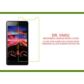 Dr. Vaku ® Micromax Canvas Nitro 3 E352 Ultra-thin 0.2mm 2.5D Curved Edge Tempered Glass Screen Protector Transparent