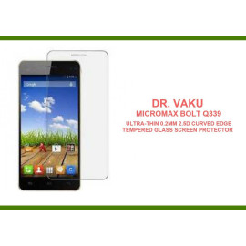 Dr. Vaku ® Micromax Bolt Q339 Ultra-thin 0.2mm 2.5D Curved Edge Tempered Glass Screen Protector Transparent