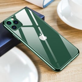 Luxos ® Apple iPhone 11 Pro Max Glassy Transparent Hard Case with High Grade material Back Cover