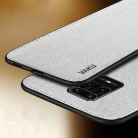 Vaku ® Redmi Note 9 Pro Luxico Series Hand-Stitched Cotton Textile Ultra Soft-Feel Shock-proof Water-proof Back Cover