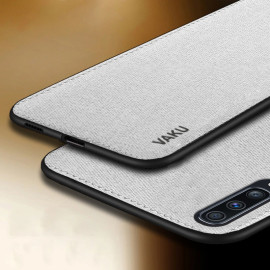 Vaku ® Samsung Galaxy A70 Luxico Series Hand-Stitched Cotton Textile Ultra Soft-Feel Shock-proof Water-proof Back Cover