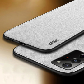 Vaku ® Samsung Galaxy Note 20 Ultra Luxico Series Hand-Stitched Cotton Textile Ultra Soft-Feel Shock-proof Water-proof Back Cover