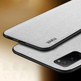 Vaku ® Samsung Galaxy S20 Luxico Series Hand-Stitched Cotton Textile Ultra Soft-Feel Shock-proof Water-proof Back Cover