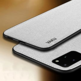 Vaku ® Samsung Galaxy S20 Plus Luxico Series Hand-Stitched Cotton Textile Ultra Soft-Feel Shock-proof Water-proof Back Cover