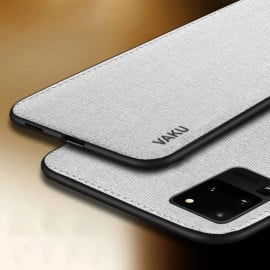 Vaku ® Samsung Galaxy S20 Ultra Luxico Series Hand-Stitched Cotton Textile Ultra Soft-Feel Shock-proof Water-proof Back Cover