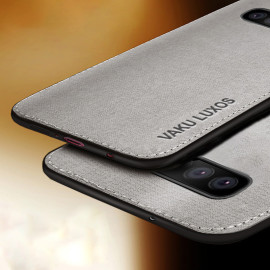 Vaku ® Samsung Galaxy S10 Luxico Series Hand-Stitched Cotton Textile Ultra Soft-Feel Shock-proof Water-proof Back Cover