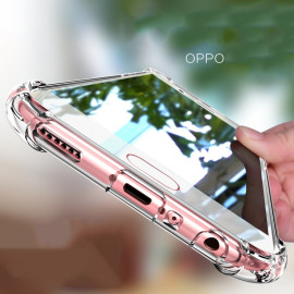 Vaku ® Oppo A37 PureView Series Anti-Drop 4-Corner 360° Protection Full Transparent TPU Back Cover Transparent