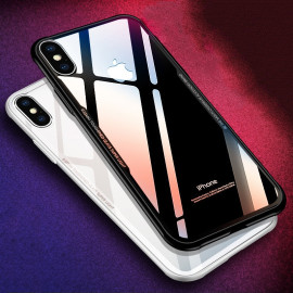 Vaku ® Apple iPhone X GLASSINO Wireless Edition Soft Silicone 4 Frames Plus Ultra-Thin Case Transparent Cover