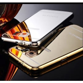 Xuenair ® Samsung Galaxy S6 Mirror Finish Ultra Slim Metal Electroplating Arc Aluminium Bumper + Back Cover