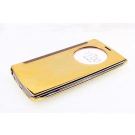 Vaku ® LG G5 Mate Smart Awakening Mirror Folio Metal Electroplated PC Flip Cover