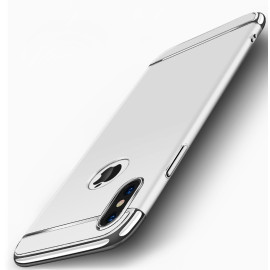 VAKU ® Apple iPhone X Ling Series Ultra-thin Metal Electroplating Splicing PC Back Cover