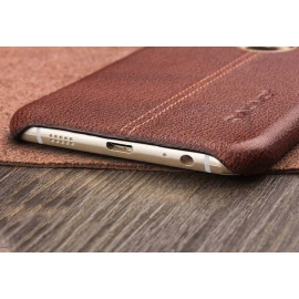 Vaku ® Samsung Galaxy C9 Pro Lexza Series Double Stitch Leather Shell with Metallic Camera Protection Back Cover