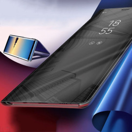 Vaku ® Samsung Galaxy Note 9 Mate Smart Awakening Mirror Folio Metal Electroplated PC Flip Cover
